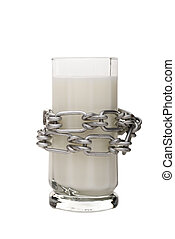 Lactose intolerance - A concept image with a glass of milk...