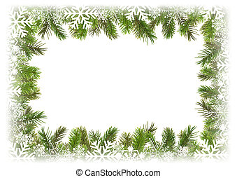 Framework from branches of a Christmas tree 1. - Framework...