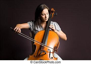 Passionate real artist - Passionate real artist, young woman...