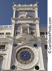 Clock tower with zodiac (Venice ,Italy)