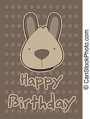 illustration cute kangaroo - birthday card with illustration...