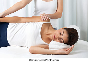 Woman Receiving a Massage