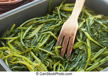 Chicory - Fresh cooked chicory typical from south of Italy