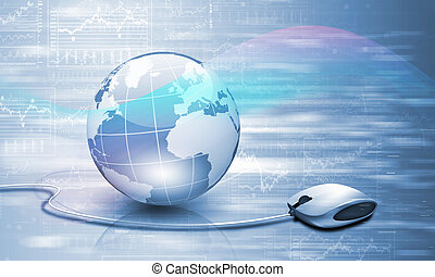 Planet earth and technology background