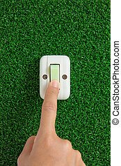 turn off the light - turn off the light, save energy concept...