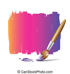 Paint brush colorful background, vector illustration