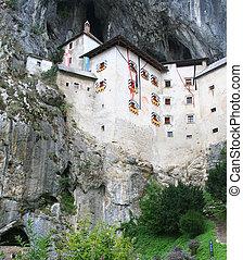 Predjama castle, Slovenia - medieval Predjama castle near...