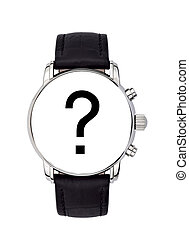 watch with a black query mark - concept