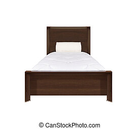 Bed isolated