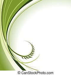 Abstract Green Curl - background illustration