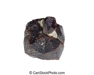 Garnet. Origin: Madagascar - studio isolated photo