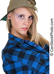 Attractive femme fatale - Attractive young sexy femme fatale...