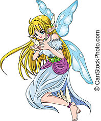 Pixie - Cartoon illustration of a pixie