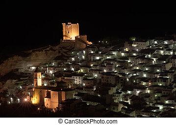 Alcala del Jucar - A view of Alcala del Jucar, in Albacete...