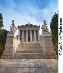 The National academy, with Apollo, Athena, Plato and...