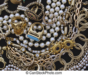 variety of jewels, precious background