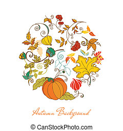 Autumn Background - for scrapbook, design in vector