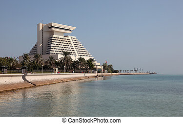 The Sheraton Hotel in Doha. Qatar, Middle East. Photo taken at 6st January 2012