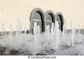 Fountain at the Museum of Islamic Art in Doha, Qatar