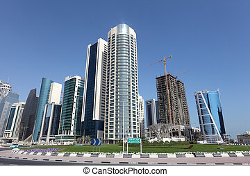 New downtown district West Bay in Doha, Qatar, Middle East