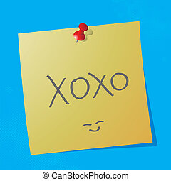 xoxo handwritten nessage - xoxo handwritten acronym message...