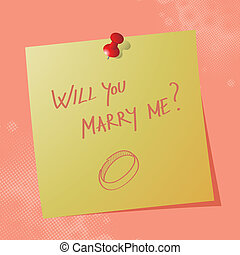 will you marry me on sticky paper