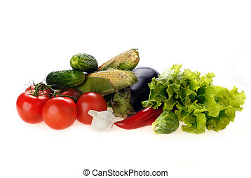 fresh vegetables - Composition with fresh, tasty vegetables,...