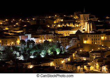 Chinchilla - a night view of Chinchilla, in Albacete...