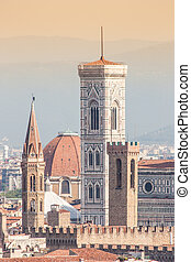 Florence Duomo view - Panoramic view from Piazzale...