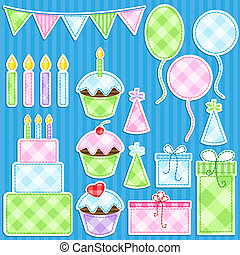 Birthday Party - Birthday party vector elements set