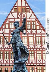 senhora, justiça, frankfurt