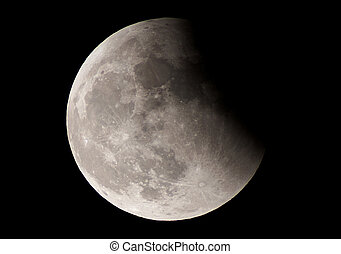 eclipse - a view by telescope of the lunar eclipse in june...