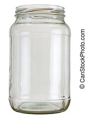 Preserving jar - Close up of a empty preserving glass...