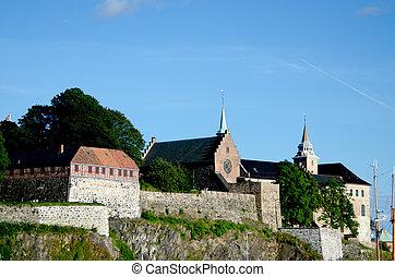 Close up Akershus Fortress