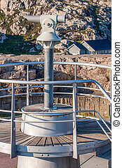 View point with telescope