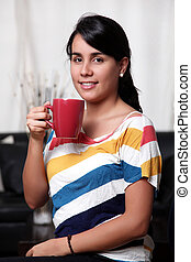 Woman and cup