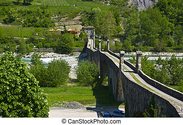 The Old Bridge of Bobbio  Emilia-Romagna. Italy.