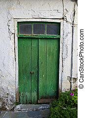 old doors of Crete Greek islands