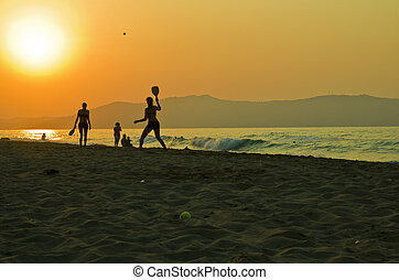 Sunset on the Beach of Gerani Creta Greece