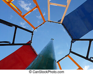 adventure playground - photograph of a brightly colored...