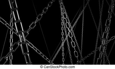 Chains Horror Background Strobe Light Effect Looping