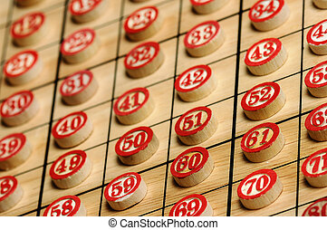 numbers - Wooden numbers in order Lucky concept