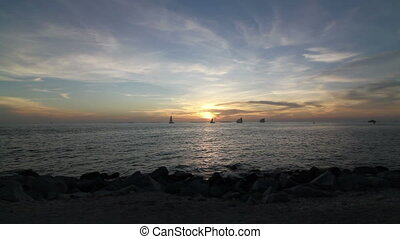 Key West Sunset Time Lapse Ocean View