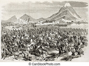 San-Andres - French intervention in Mexico: General Alvares...