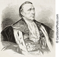 Barthe - Felix Barthe old engraved portrait French statesman...