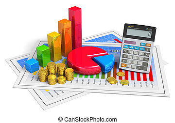 Financial business analytics concept - Financial business,...