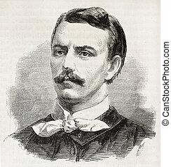 Padlewski - Zygmunt Padlewski old engraved portrait (Polish...