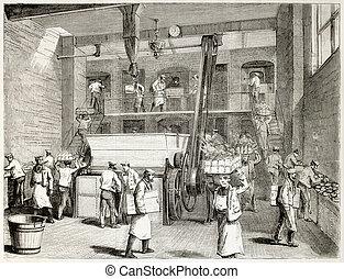 Stevens bakery - Stevens Company Bakery old illustration,...