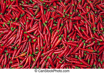 Vietnam Bac Ha: Pigment red hot jalapeno chili peppers -...