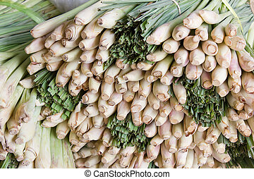 Lemongrass in a food market